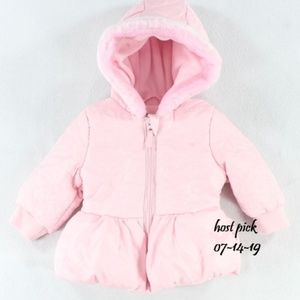 ROTHSCHILD PINK PEPLUM HOODED GIRLS JACKET 12 MO